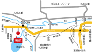 御宿竹取物語の地図