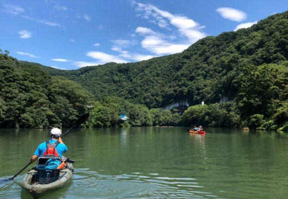 カヤックから見る長瀞の川