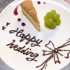 デザートプレートのケーキ