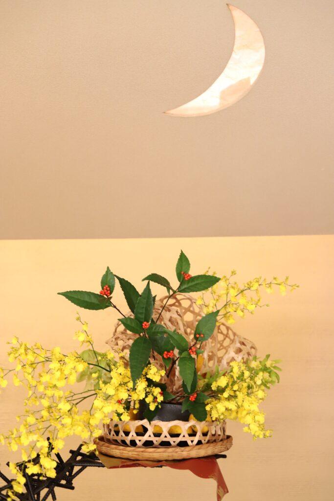 お正月の活け花