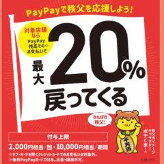 paypay最大20%還元キャンペーン