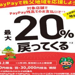 PayPayで秩父地域を応援しよう